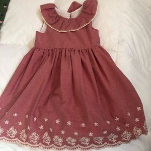 Beautiful red and cream Laura Ashley dress size 5